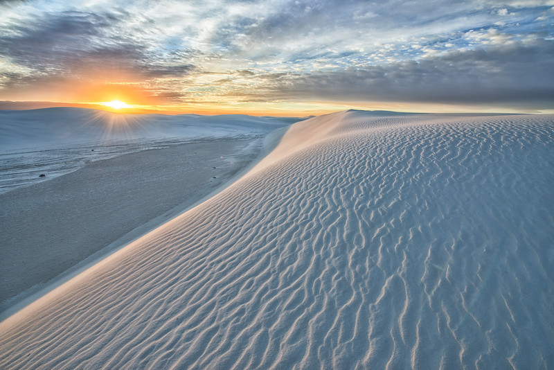 First Light at White Sands