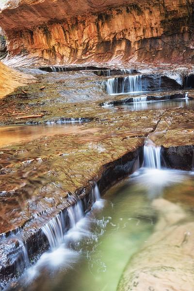 Flowing Waterfalls in Subway