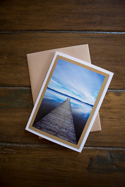 Notecards are printed on 12 pt card stock, blank inside.