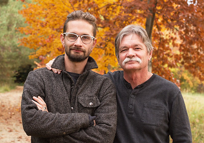 Adult Dad and Son Idaho Portrait
