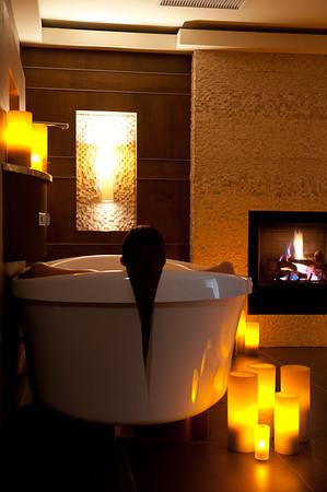 Relaxation tub at Spa Linnea, Telluride, CO