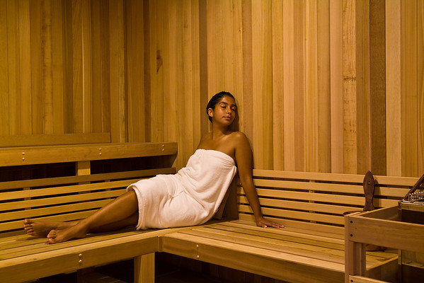 Sauna, Magnolia Spa, Marriott in Savannah, GA