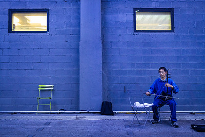 Huqin Player in Blue - NYC