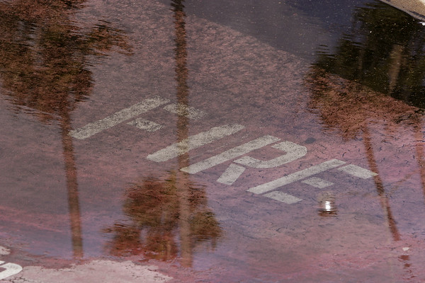 """Rainy Day Reflections #2""<br /> San Diego Harbor"