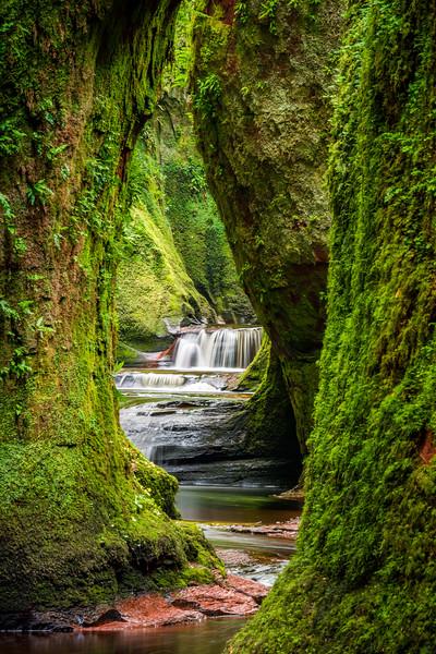 Waterfall in Finnich Glen (The Devil's Pulpit)