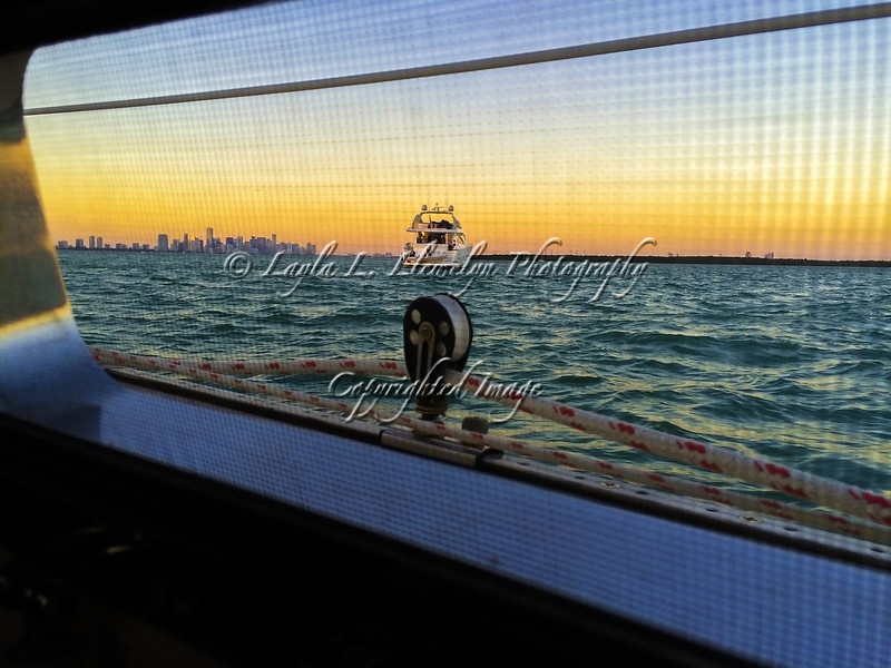 Day 52 Sunset through a Porthole