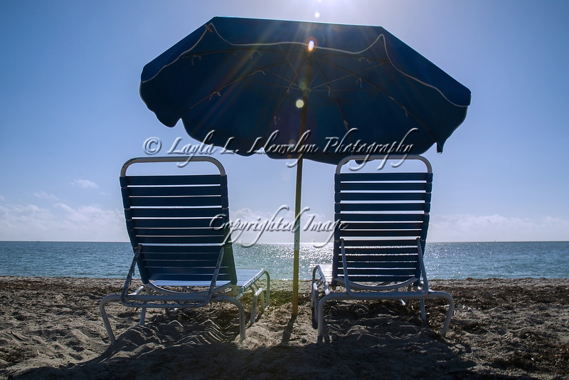 Day 47 Umbrella and Beach Chairs: This is Miami