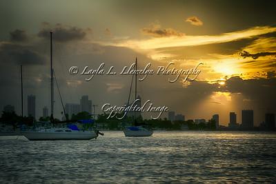 Day 228 Sunset Spotlight On Miami