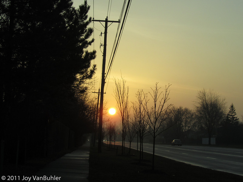 3/21/11 - The sun was nice and big as I was leaving for work this morning.  I captured this one as I was leaving my neighborhood