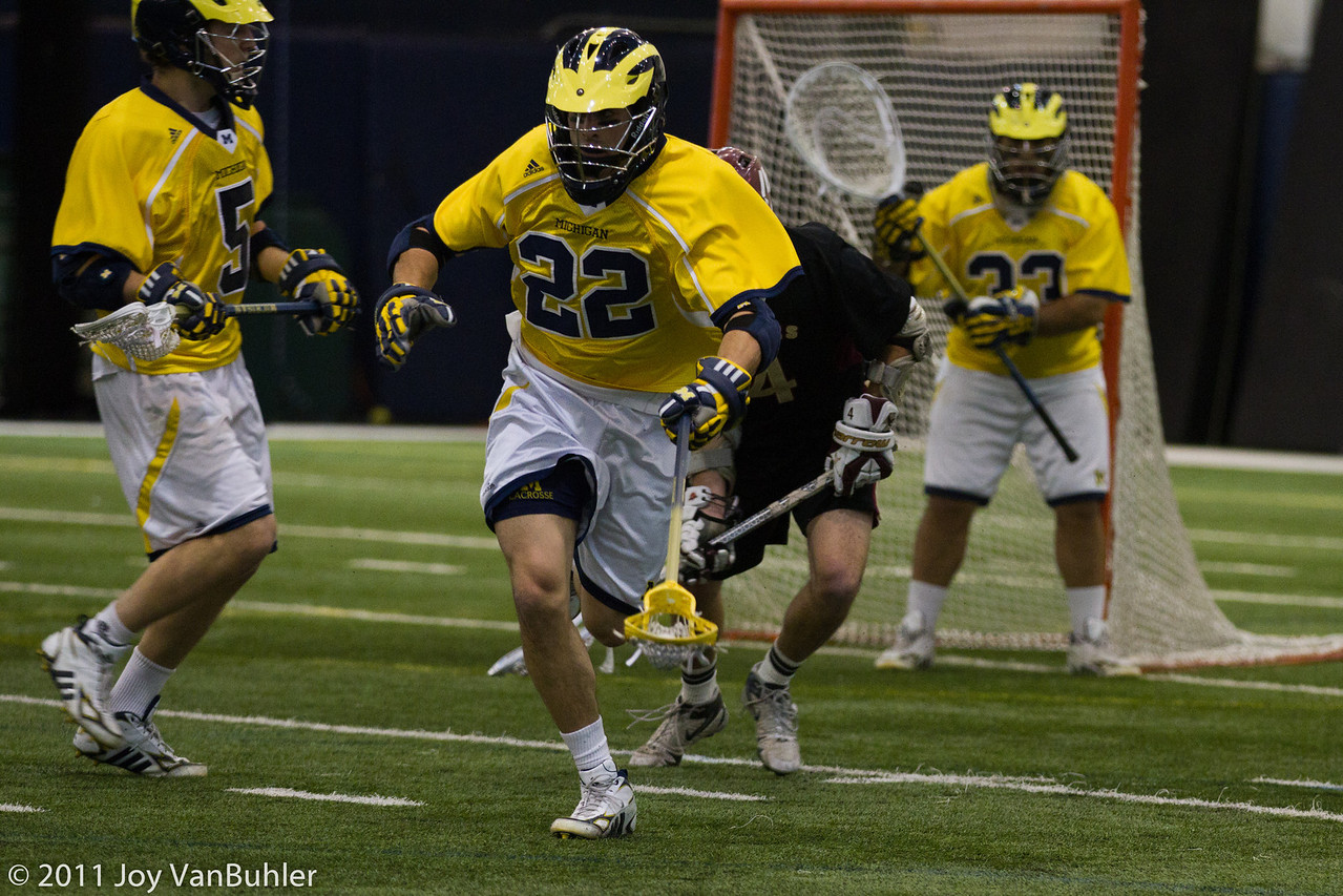3/25/11 - Went to my University of Michigan's Lacrosse game against Boston College. Michigan won 14-7.  It was an interesting game.  There were a lot more people there than I thought there would be. Brent Kirshner, Harry Friedand Mark Stone are the Michigan players