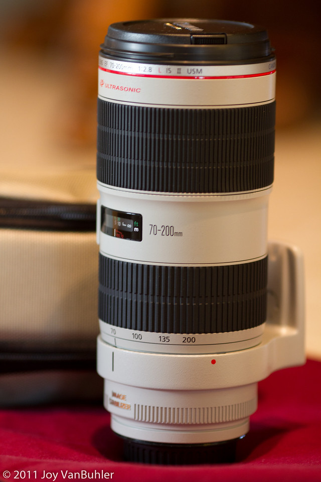 3/16/11 - Just recieved my new 70-200mm Canon lens today.  I can't wait to use it.