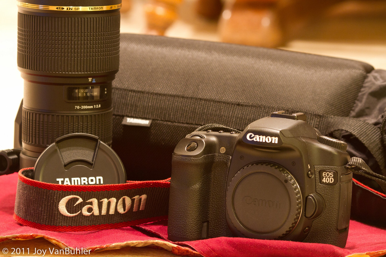 3/14/11 - I finally decided to sell  my old Canon 40D and Tamron 70-200mm lens.  I've got to make room for some new equipment