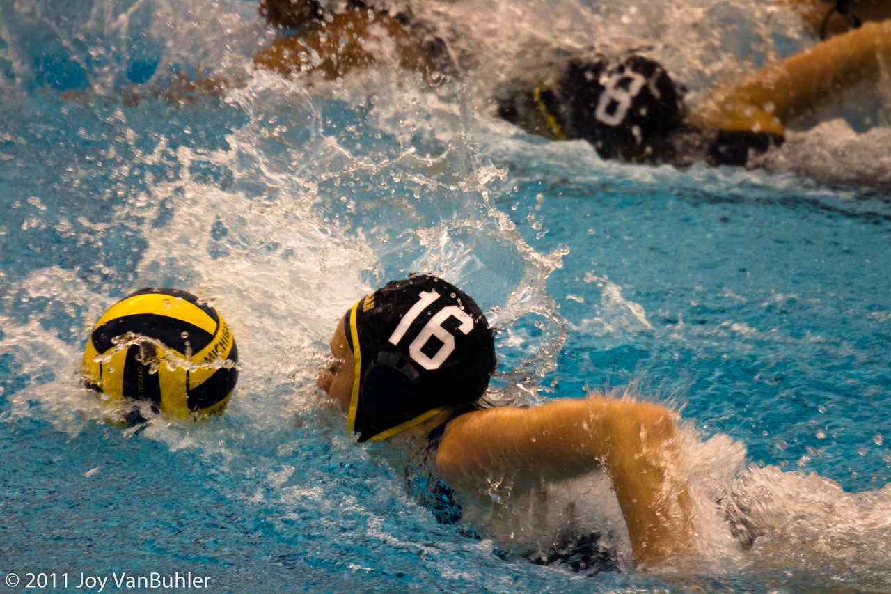 3/11/11 - Went to my first ever water polo game.  It was Michigan against Mercyhurst.  It was an interesting game with lots of activity.  I wish my lens had been a little bit faster -- I didn't get as many shots as I thought I got.  The Michigan team had an impressive cheering squad.  The group of fans made for an interesting game