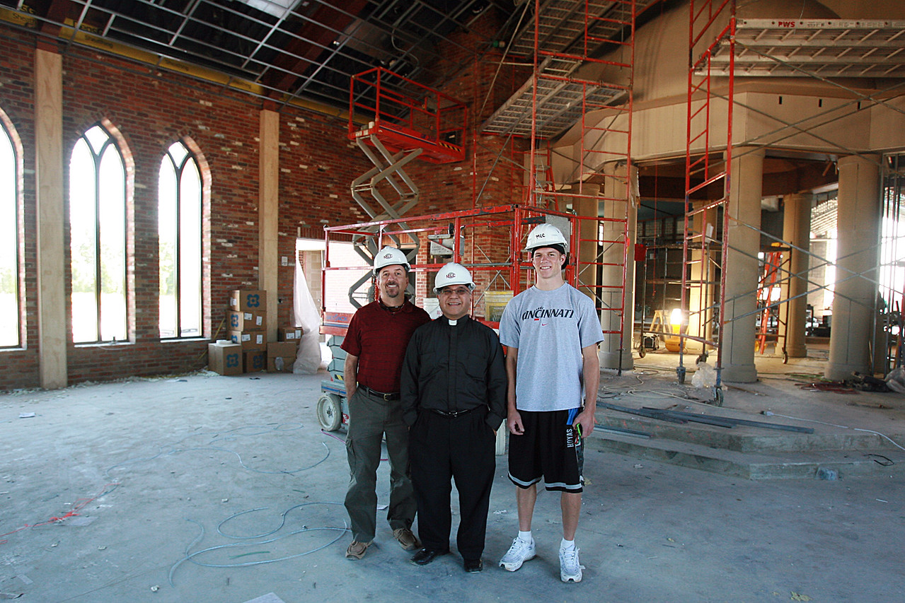 Pete Fr Rudy and Chris in the Day Chapel