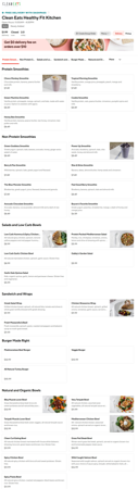 In 2019, Fullerton Photography partnered with Kodak and DoorDash for various restaurant food photography.  My second session was with Clean Eats Healthy Fit Kitchen in West Bloomfield.  Several weeks later, this was published live on DoorDash's site.  *Due to the quantity of items, not all food is shown.*