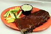 A popular choice at the restaurant - a half-slab of Baby Back BBQ Ribs.  3-8-10 to 3-10-10