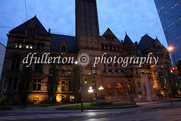 Wide shot of Toronto's Old City Hall.  Photographed on 5-21-09.