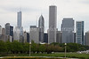 A classic skyline photograph of Chicago taken during a rainly summer afternoon.  One may also notice the newly completed Trump Hotel and Condominium Tower to the leftside of the photo.  5-17-10