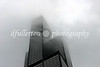 The famous Sears Tower of Chicago photographed during heavy fog.  Photograph taken 8-20-07.