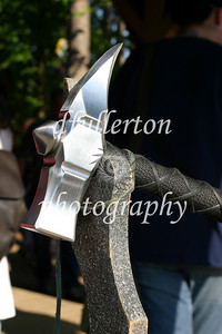 A warhammer crafted by Christian Michael's Arms and Armor at the Michigan Renaissance Festival, 2007.