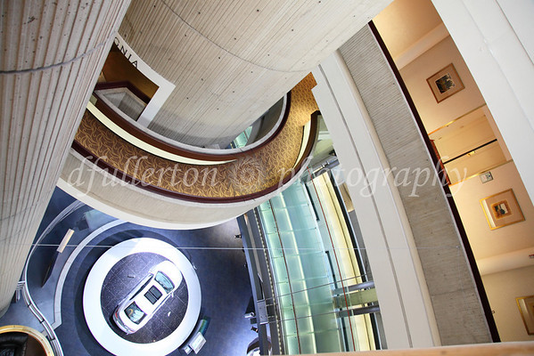 A dizzying view from the Mariott Hotel of Detroit's GM Renaissance Center Global Headquarters.  1-9-10