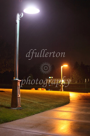 Photo of a high efficiency, low temperature streetlamp installed and promoted by Clean Light Green Light LLP of Detroit, Michigan.  9-27-10