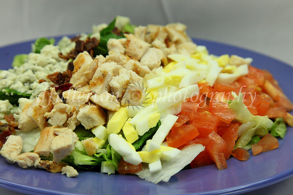 """A nicely mixed plate helps make """"Nickie's Cobb Salad"""" at West Beach Grille a treat to both photograph and eat.  3-8-10 to 3-10-10"""