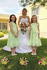 Flowers and girls!  Flower girls gave us cute smiles for this photo.  6-26-10