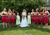 Dresses abounded during this display of vows and of color.  6-26-10