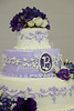 A beautiful tiered cake was on hand for Marc and Rebecca's wedding.