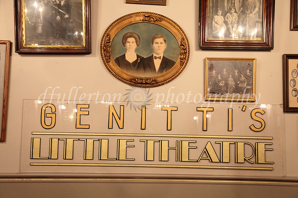 "Photos continued in Genitti's ""Little Theatre"" - a throwback gem to the Art Deco era where the restaurant hosts original plays and murder mysteries."