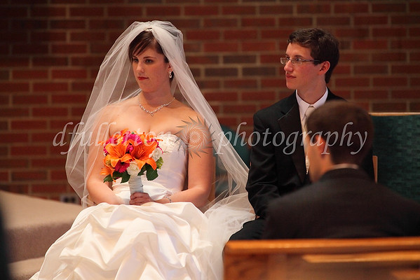 While all members of the bridal party sat at the front, there was thankfully enough room to photograph around heads for the Bride and Groom!