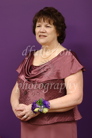 This purple room again gave ambience to this photo taken of Rebecca's mother on 5-7-11,