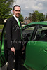 Green and blue were pretty much the theme of this wedding - evident in part by Mark's attire and car!