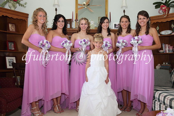 All the bridesmaids pose for a group photo, 7-25-09.