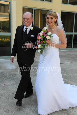 Katie and her father took their signature wedding walk to the ceremony site at Novi's Doubletree Hotel.  6-26-10
