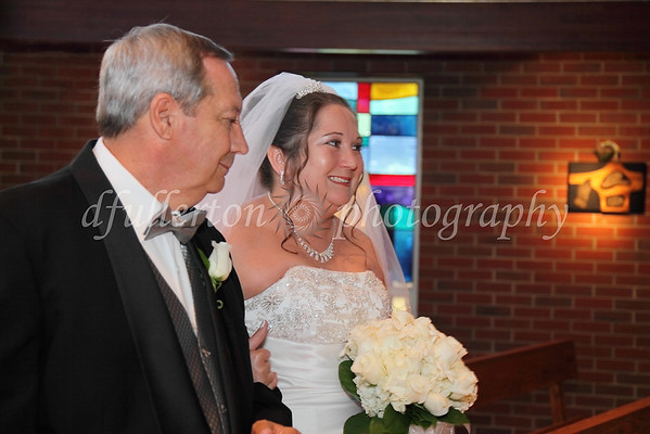 Michelle and her father went down the aisle together, as it nearly always is done.