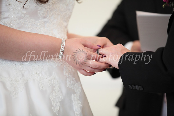 The Exchange of Rings was repeated for this renewal dedication.