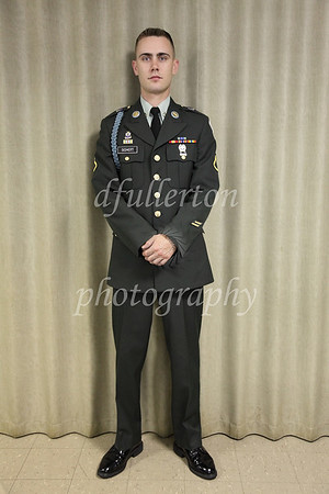 Here, Terry posed patiently in his U. S. Army Uniform before the ceremony.