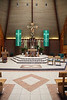 The aisle and altar of Holy Trinity was relatively recently remodeled with beautiful stonework and wood.