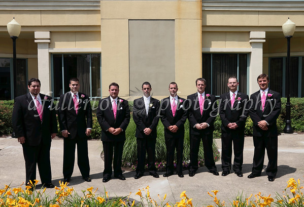 Here we had many groomsmen looking their best for Katie and Justin's wedding and reception held at Novi's Doubletree Hotel.  6-26-10
