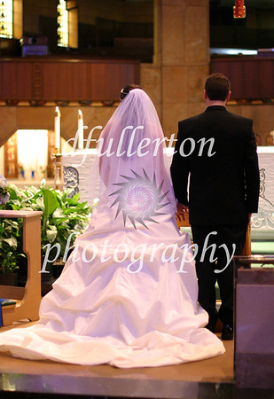 Photo of the ceremony of Matt and Lorena taken during their wedding day, 9-6-08.