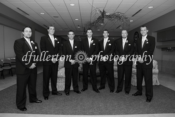 Photo of the groomsmen before the ceremony, 7-25-09.