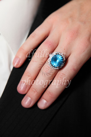 One of the many beautiful rings the couple wore that night.