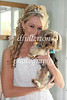 Julie and her dog before leaving the house to the church.  So cute!  7-25-09