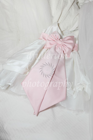 Here, the flower girl's dress captured the color theme for the wedding.  8-14-10
