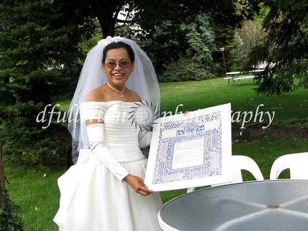 Rita celebrating her wedding day! 8-27-2005