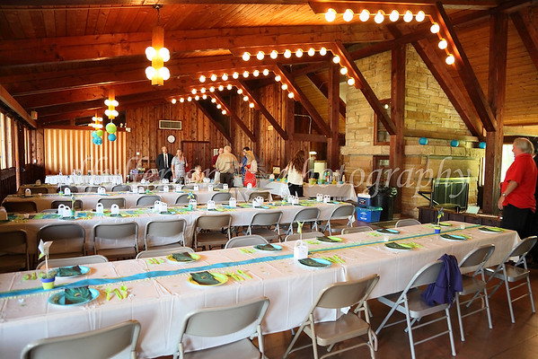 The reception was held at a local park's recreation center and was a wonderful mixture of formality with a laid-back, casual, family-friendly atmosphere.