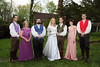 Everyone together now!  The color combinations for Arielle's wedding were a wonderful sight compared to the typical white-and-black groomsmen or uniformly colored bridesmaids of other weddings.
