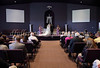 While the church space was not exceptionally large, a nearly full house was on hand to witness the ceremony.